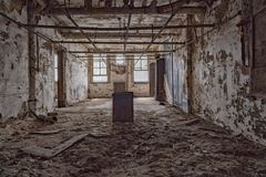 Ellis island abandoned psychiatric hospital interior rooms Royalty Free Stock Photography