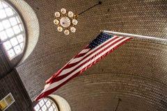 Ellis Island. Amazing architecture that went into constructing the main building on Ellis Island Stock Photos