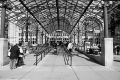 Ellis Island. Entrance to Ellis Island where many immigrants entered on their way to becoming citizens of the United States of America Stock Photography