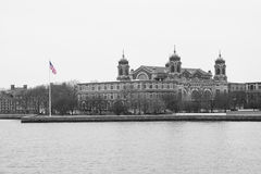Ellis Island flagga Fotografering för Bildbyråer