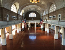 Ellis Island Great Hall. The great hall at Ellis Island National Park in New York Royalty Free Stock Photos