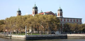 Ellis Island. Grounds where many immigrants came to America to become citizens Royalty Free Stock Photos
