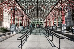 Ellis Island. Grounds where many immigrants came to America to become citizens Royalty Free Stock Images