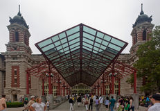 Ellis Island Historical Building Royalty Free Stock Photography