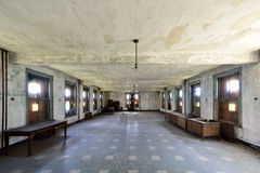 Ellis Island Immigrant Hospital. The abandoned Ellis Island Immigrant Hospital. It was the United States first public health hospital, opened in 1902 and stock photography