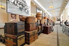 Ellis Island Immigrant Luggage stock photos