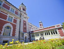 Ellis Island. Immigration building on a summer day Royalty Free Stock Photos