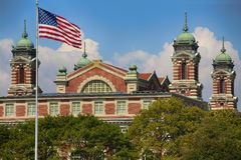 Ellis Island Immigration Museum Jersey city. On Ellis Island in New York harbor royalty free stock photo