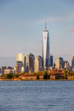 Ellis Island and Manhattan's Financial District, New York City Stock Photography