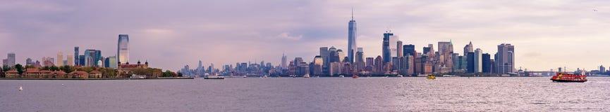 Manhattan skyline panorama, New York City stock images