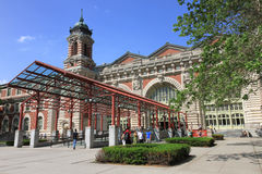 Ellis Island National Museum of Immigration. New York, USA -  May 30, 2015: Main Building which houses the Ellis Island National Museum of Immigration entrance Royalty Free Stock Image