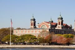 Ellis Island. From the New York ferry Stock Photography