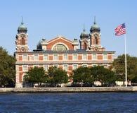 Ellis Island in New York harbor Royalty Free Stock Image
