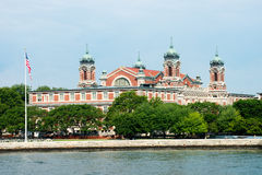 Ellis Island New York Travel. Ellis Island, New York City. The isle is actually in New Jersey and is a popular travel destination for people on vacation or Royalty Free Stock Image