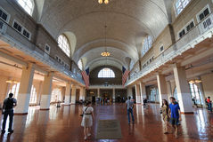 Ellis Island Registry Hall Royalty Free Stock Images