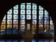 Ellis Island window. Window in Ellis Island main hall, New York Stock Image