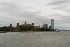 Ellis Island y Jersey City Fotos de archivo