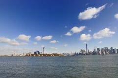 Ellis Island y Manhattan imagen de archivo libre de regalías