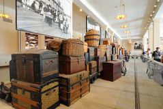 Ellis- Islandimmigrant-Gepäck Stockfotos