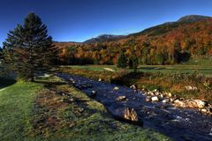 Ellis river in fall Royalty Free Stock Photo