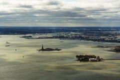 Ellis und Liberty Island, New-Jersey, im November 2018 lizenzfreie stockfotos