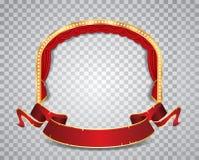 Ellisse rosso del cerchio trasparente Fotografia Stock