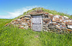 Elliston储藏根用蔬菜的地窖,纽芬兰,加拿大 免版税库存图片