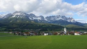 Ellmau, Austria. Ellmau in Tirol, Austria. Small town Royalty Free Stock Photography