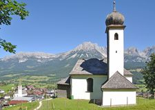 Ellmau Tirol, Österrike arkivbild