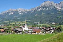 Ellmau Tirol, Österrike royaltyfria foton