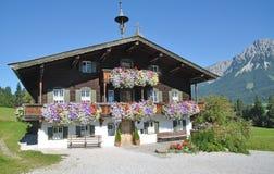 Ellmau,Tirol,Austria. Typical tyrolean House near the famous Village of Ellmau am Wilden Kaiser in Tirol,austria Stock Photos