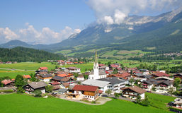 Ellmau in Tyrol,Austria. The famous Village of Ellmau am Wilden Kaiser,Tirol,Austria Stock Photography