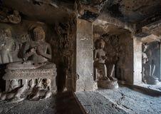 Ellora выдалбливает место всемирного наследия ЮНЕСКО Стоковое Фото
