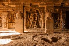 Ellora Cave Sculpture Imágenes de archivo libres de regalías