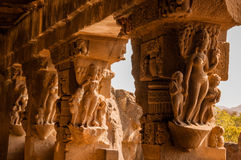 Ellora Cave Sculptures Fotografia Stock