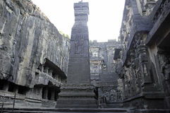 Ellora Cave temple India Royalty Free Stock Photos
