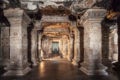 Ellora grottor, Aurangabad Royaltyfria Bilder