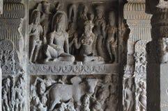 Ellora grottor, Aurangabad, Maharashtra royaltyfri bild