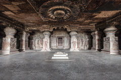 Ellora zawala się, Aurangabad obrazy royalty free