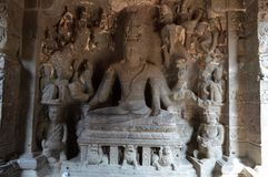 Ellora zawala się, Aurangabad, maharashtra zdjęcie royalty free
