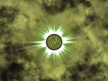 Ellow star in space. Nice Royalty Free Stock Images
