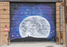 42 Ellum anônimos, profundos murais, Texas Imagens de Stock
