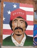 42 Ellum non specificati e profondi murali, il Texas Fotografia Stock