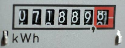 Elmätaren mäter strömmen arkivfoton