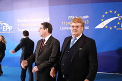 Elmar Brok. Κύπρος, τον Ιανουάριο του 2013 στοκ φωτογραφία με δικαίωμα ελεύθερης χρήσης