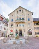 Elmar-Doch-Haus, Heidenheim an der Brenz, pedestrian area Stock Image