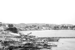 Elmina镇在加纳 免版税库存照片