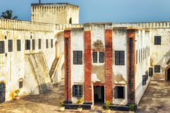 Elmina Castle & x28;also called the Castle of St. George& x29; is located stock photography