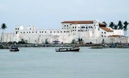 Elmina Schloss in Ghana Stockbilder