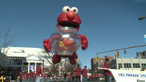 Elmo balloon at parade (3 of 3)